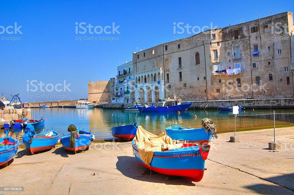 Old port. Monopoli. Puglia. Italy. stock photo