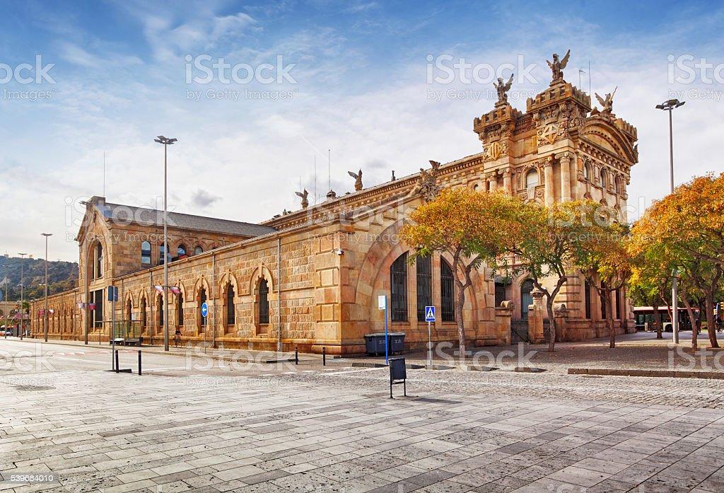 Old Port of Barcelona, Spain. stock photo