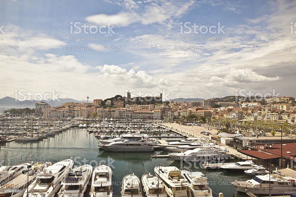 Old Port of Cannes royalty-free stock photo
