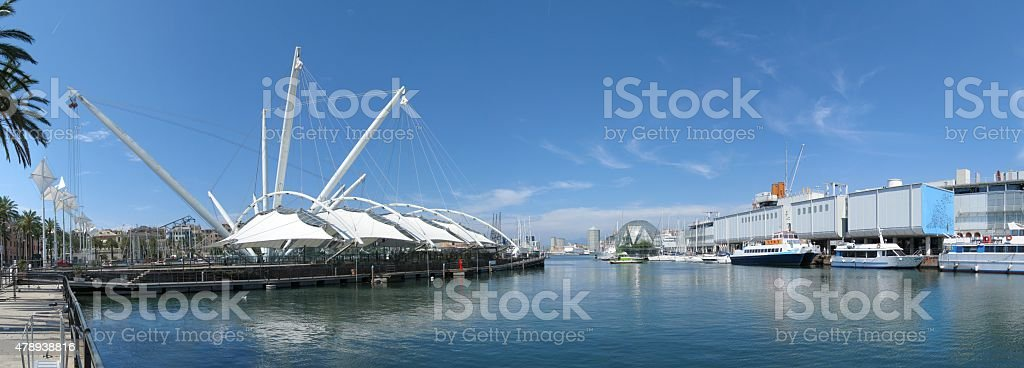 Old port of Genoa stock photo