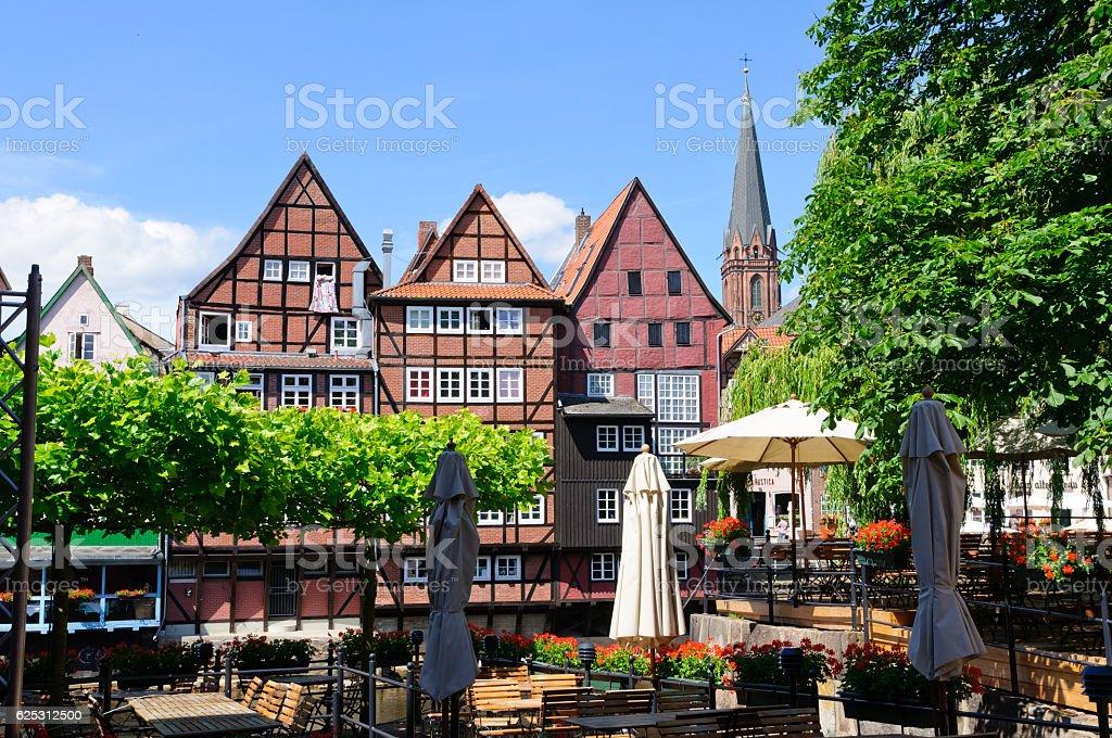 Old port of Lüneburg, Germany stock photo