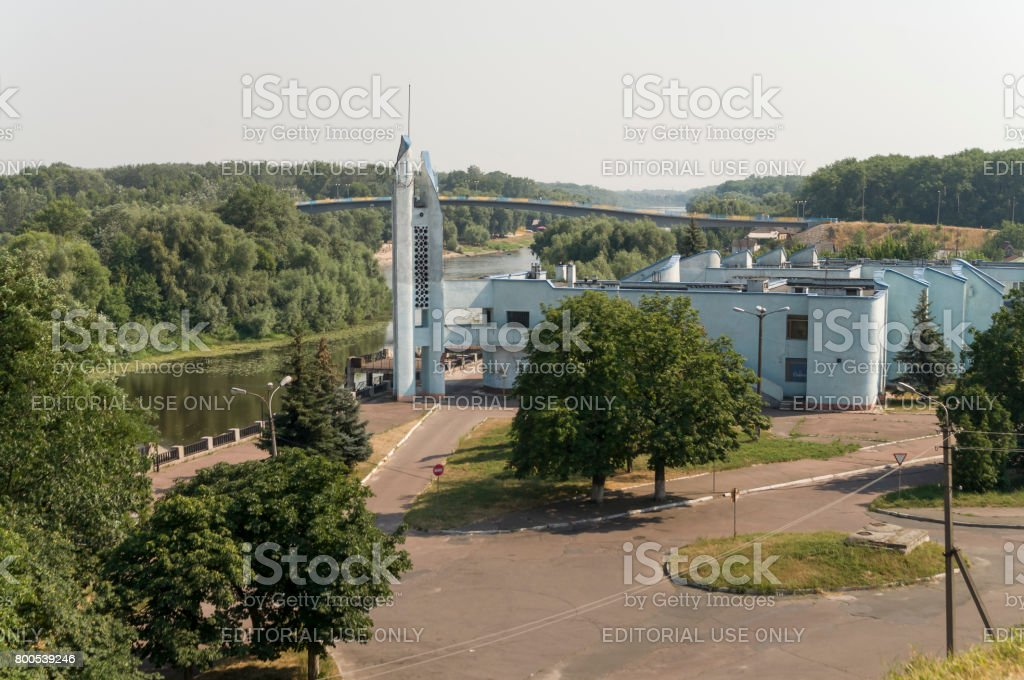 Old port. View from the top of Boldin mountains, Chernigov, Ukraine. Juny 15, 2016 stock photo