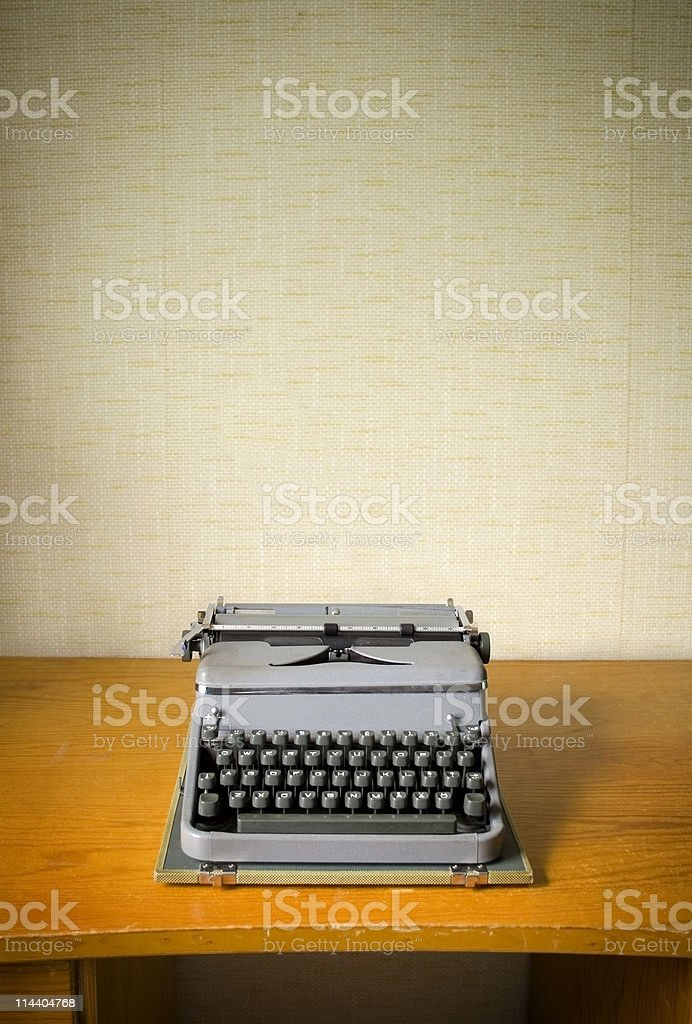 Old portable typwriter 2 royalty-free stock photo