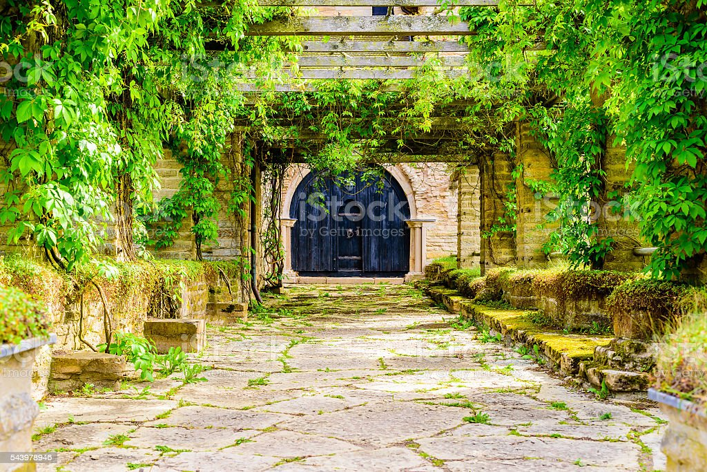 Old portal stock photo