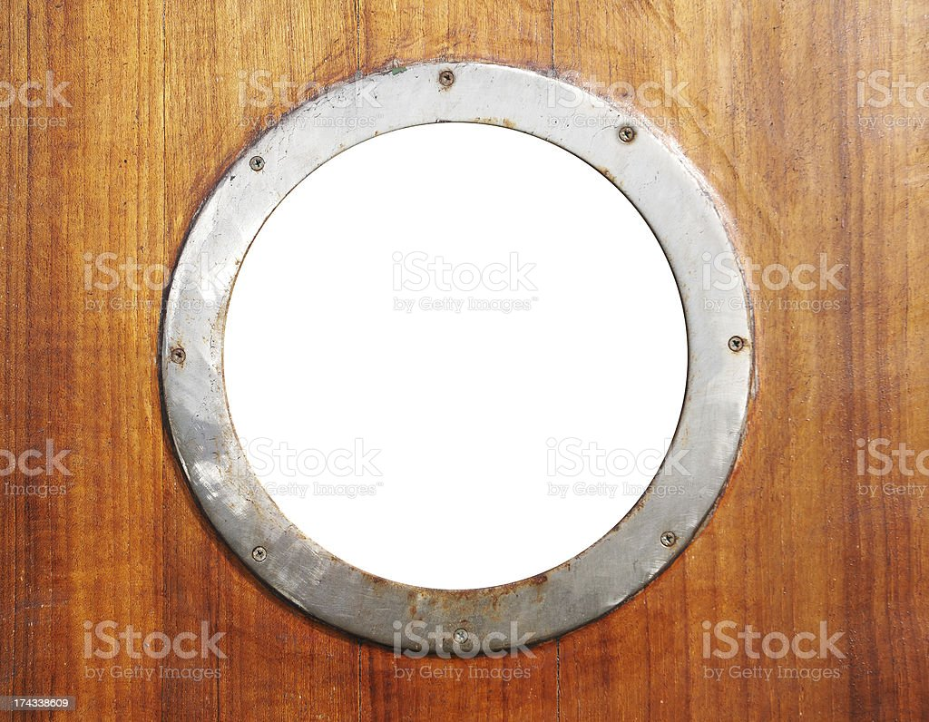 Old porthole royalty-free stock photo