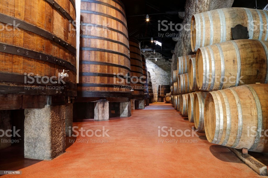 Old Porto wine cellar stock photo