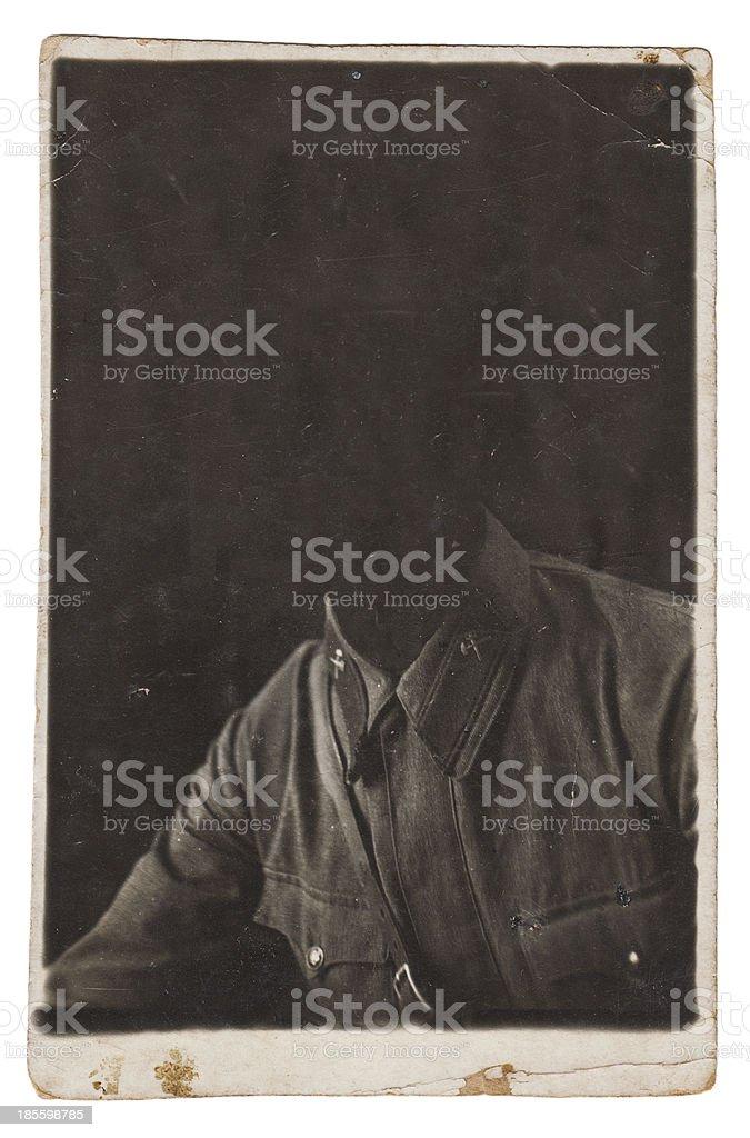 Old portrait photo royalty-free stock photo