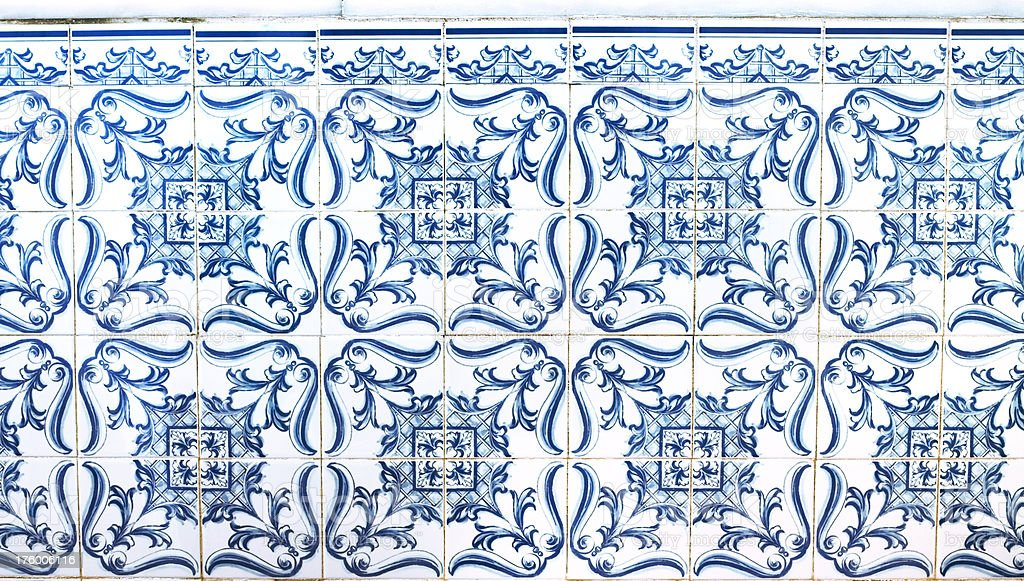 Old portuguese tiles royalty-free stock photo