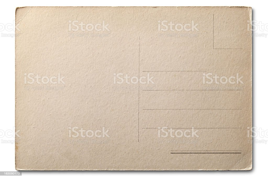 Old post card royalty-free stock photo