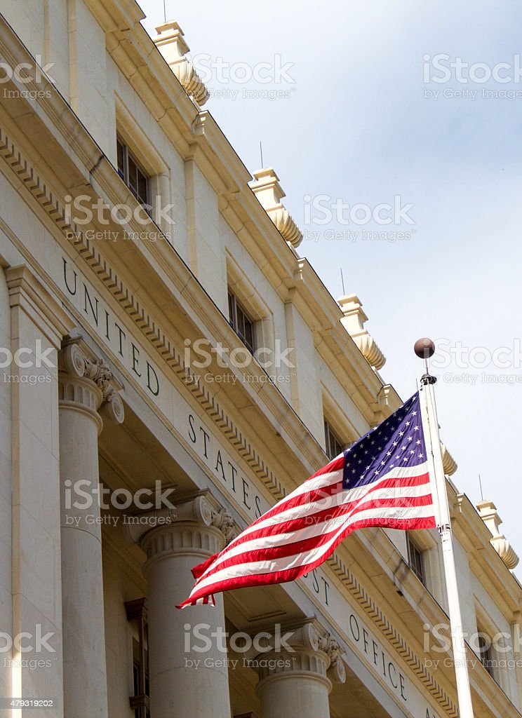 Old Post Office Building stock photo