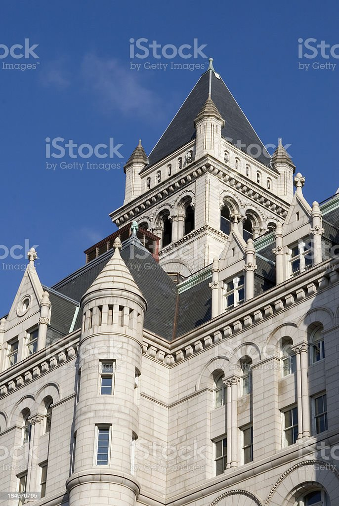 Old Post Office Building, Washington, DC royalty-free stock photo