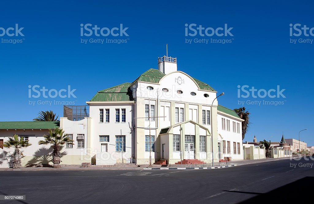Old Post Office, Luderitz, Namibia, Africa stock photo
