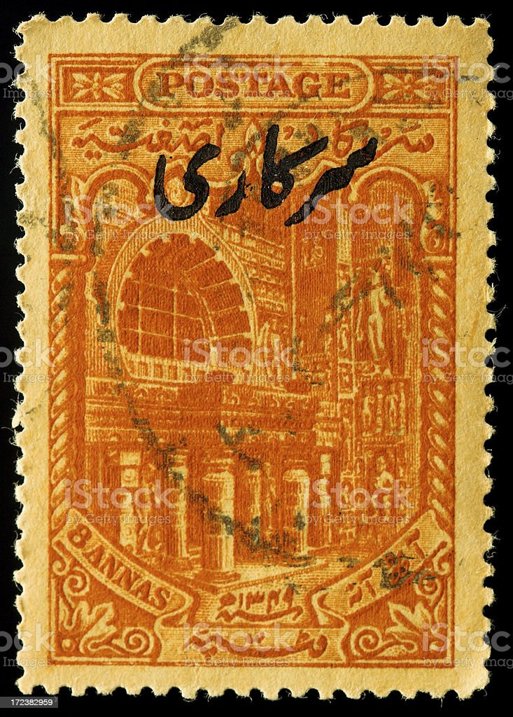 Old postage stamp from India royalty-free stock photo