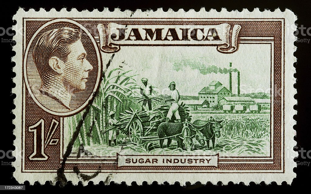 Old postage stamp from Jamaica royalty-free stock photo
