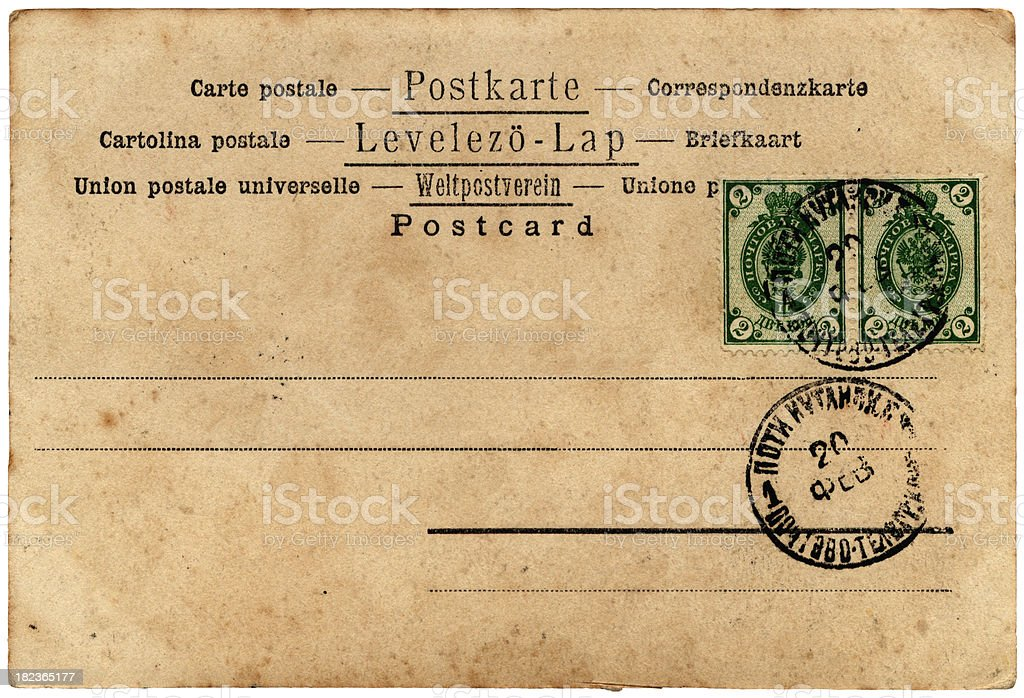 Old postcard from Russia royalty-free stock photo