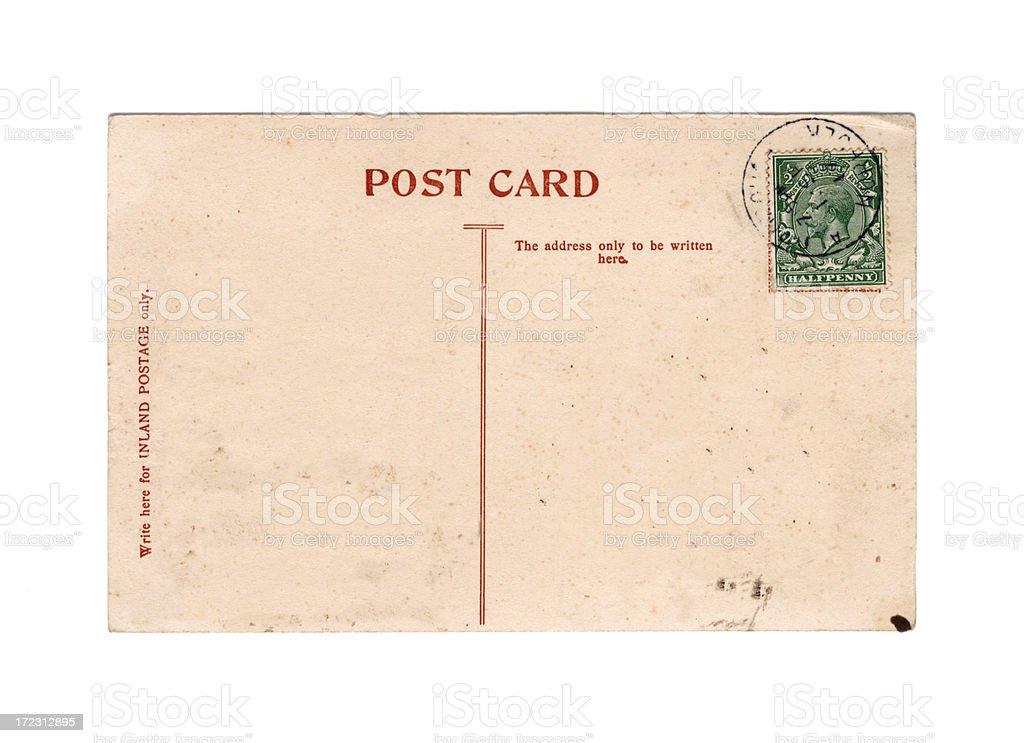 Old postcard: King George V, 1917 stock photo