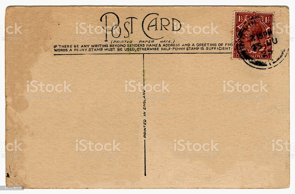 Old postcard: King George V (1925) royalty-free stock photo