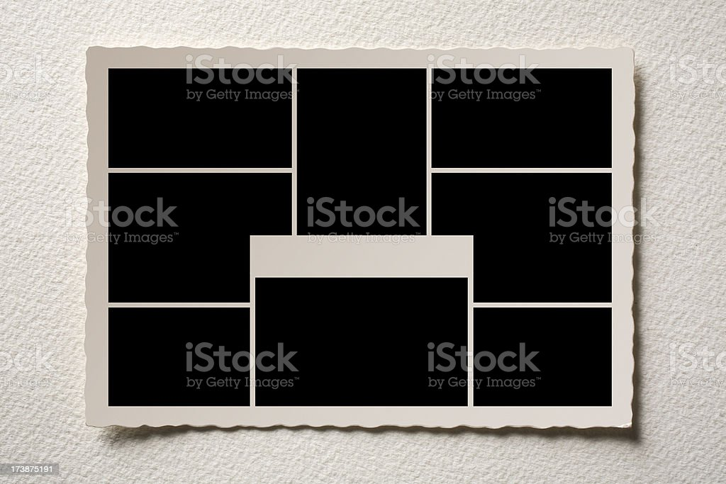 Old postcard Multiview royalty-free stock photo