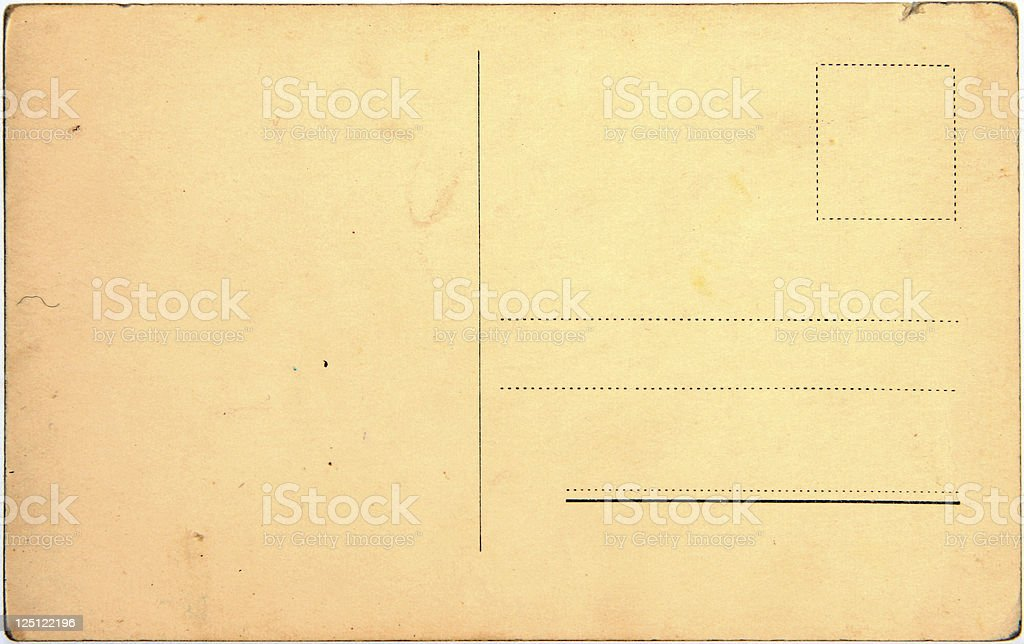 old postcard stock photo