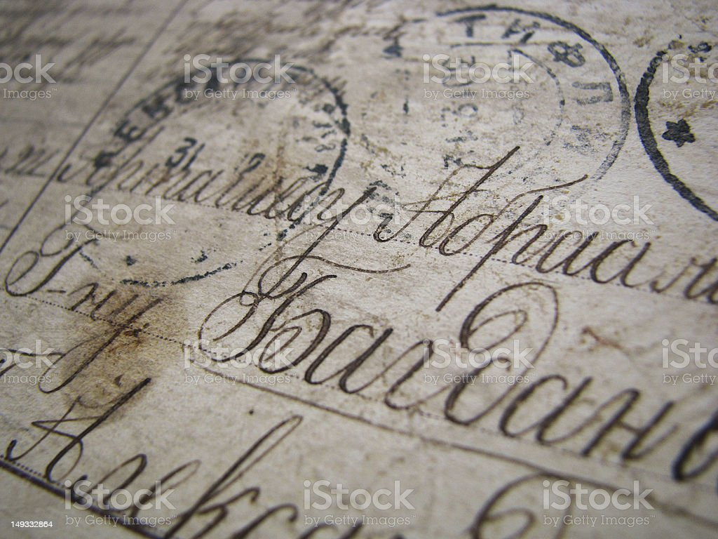 Old postcard royalty-free stock photo