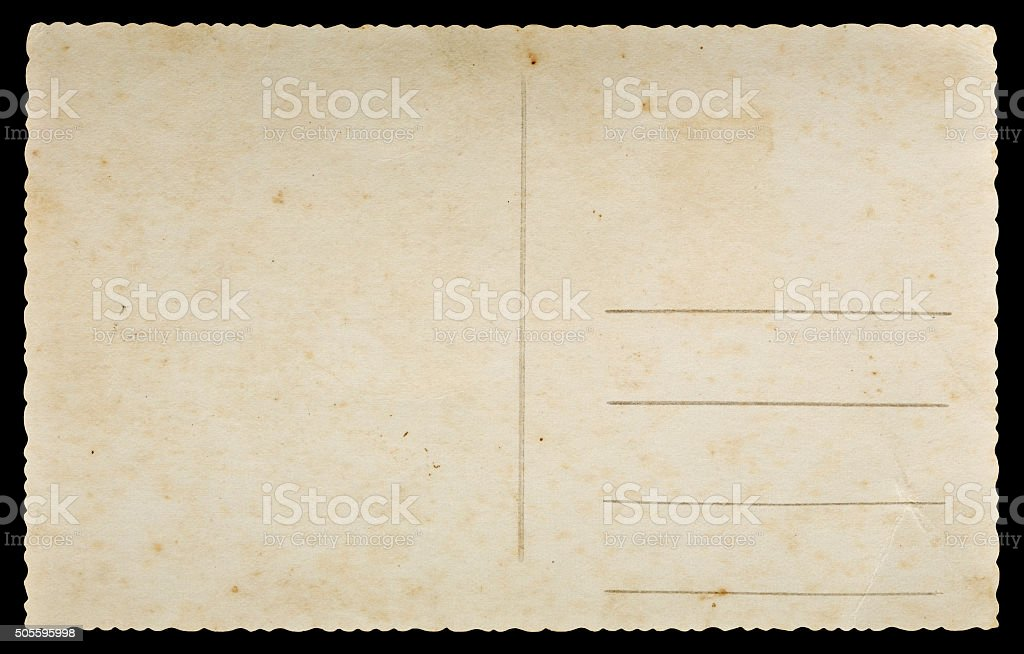 Old postcard stock photo