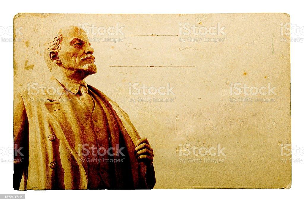 Old Postcard Series - Lenin royalty-free stock photo