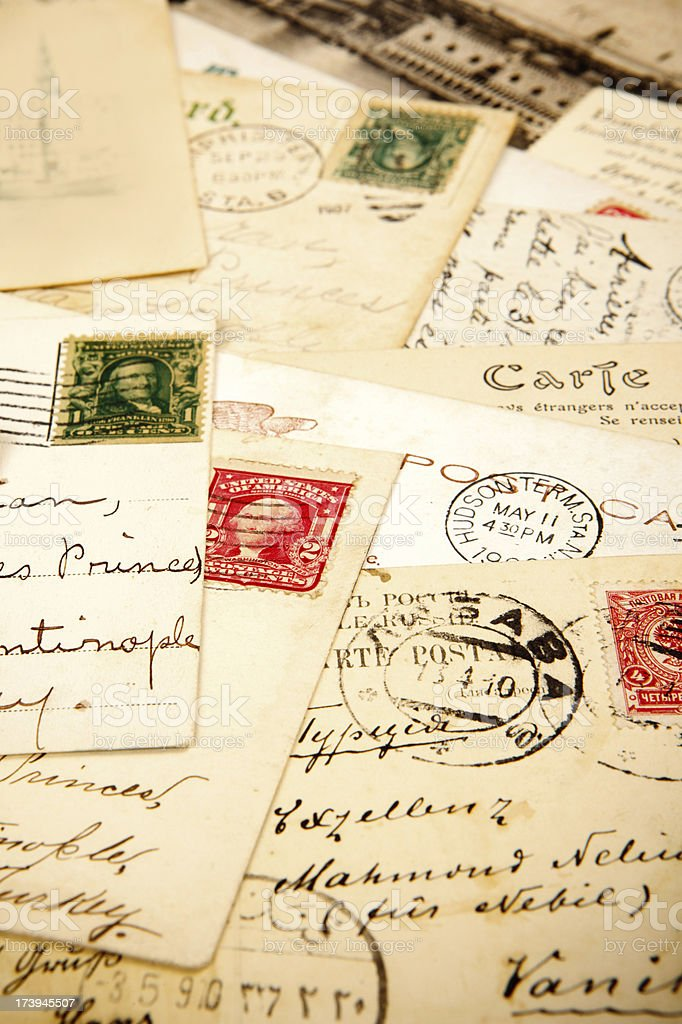 Old postcards royalty-free stock photo