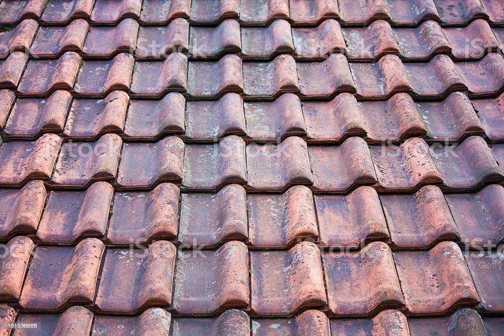 old potsherd roof texture stock photo