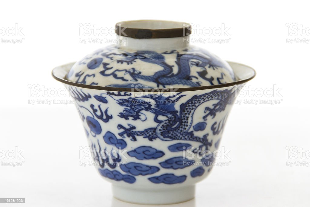 Old pottery porcelain stock photo