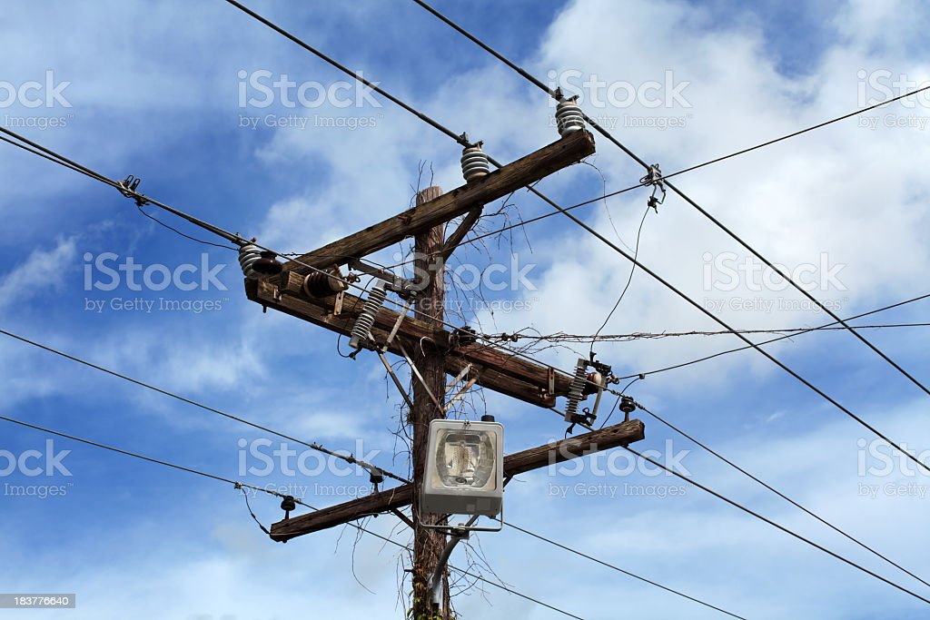 old power line royalty-free stock photo