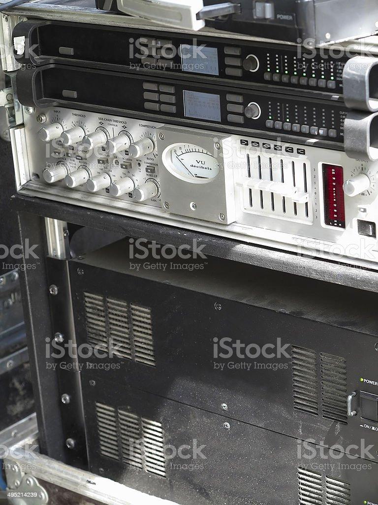 Velho poderoso concerto áudio amplificadores fase foto de stock royalty-free