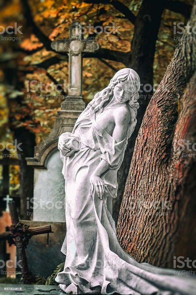 Old Powązki cemetery, Warsaw, Poland stock photo
