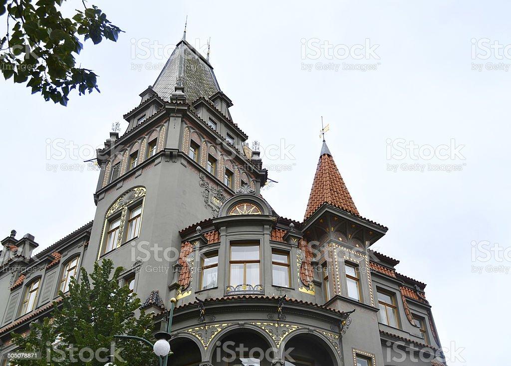 Old Prague synagogue stock photo