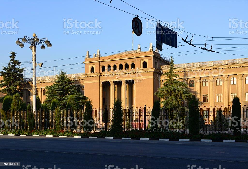 Old presidential palace, Dushanbe, Tajikistan stock photo