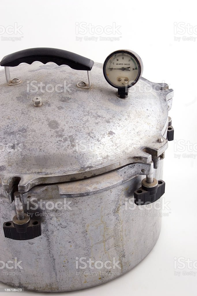 old pressure pot stock photo