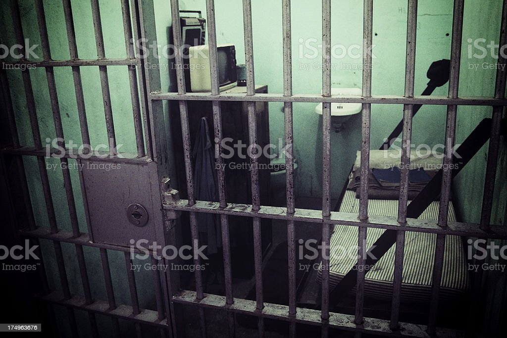 Old Prison Cell royalty-free stock photo