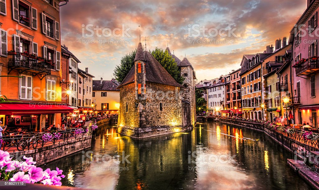 Old Prison in Annecy, France stock photo