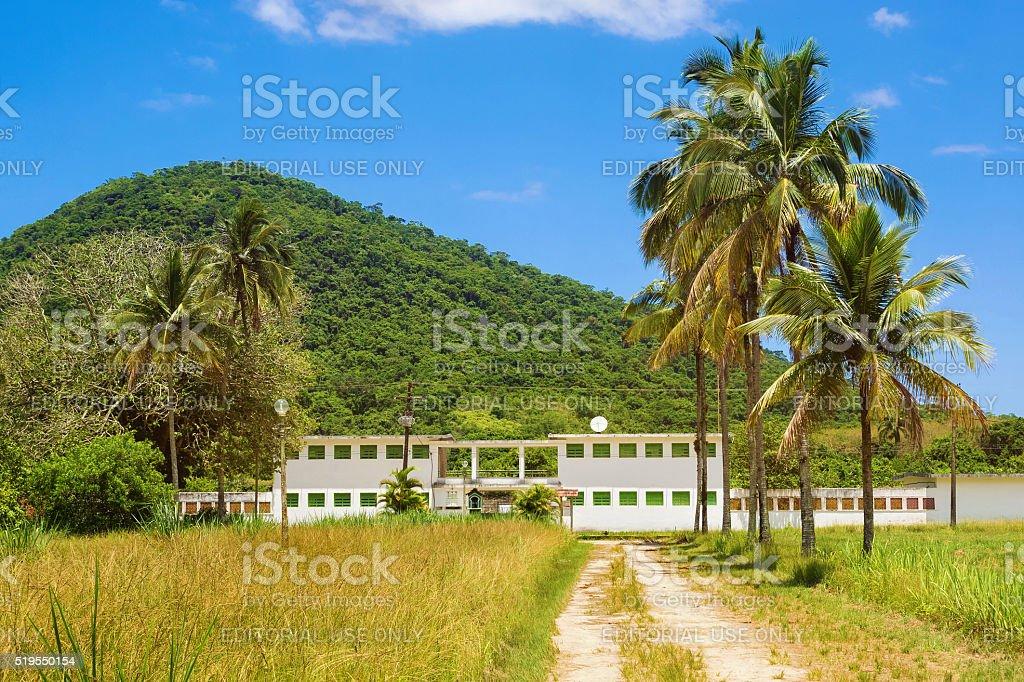 Old Prison in Ilha Grande, Rio de Janeiro, Brazil stock photo