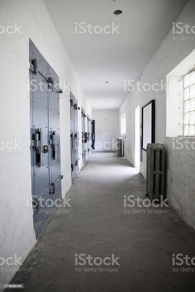 Old Prison Solitary Confinement Cell Block stock photo
