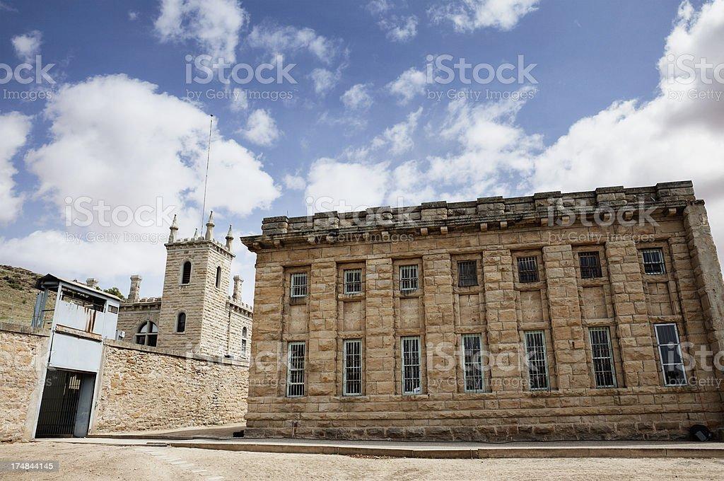 Old Prison Yard stock photo