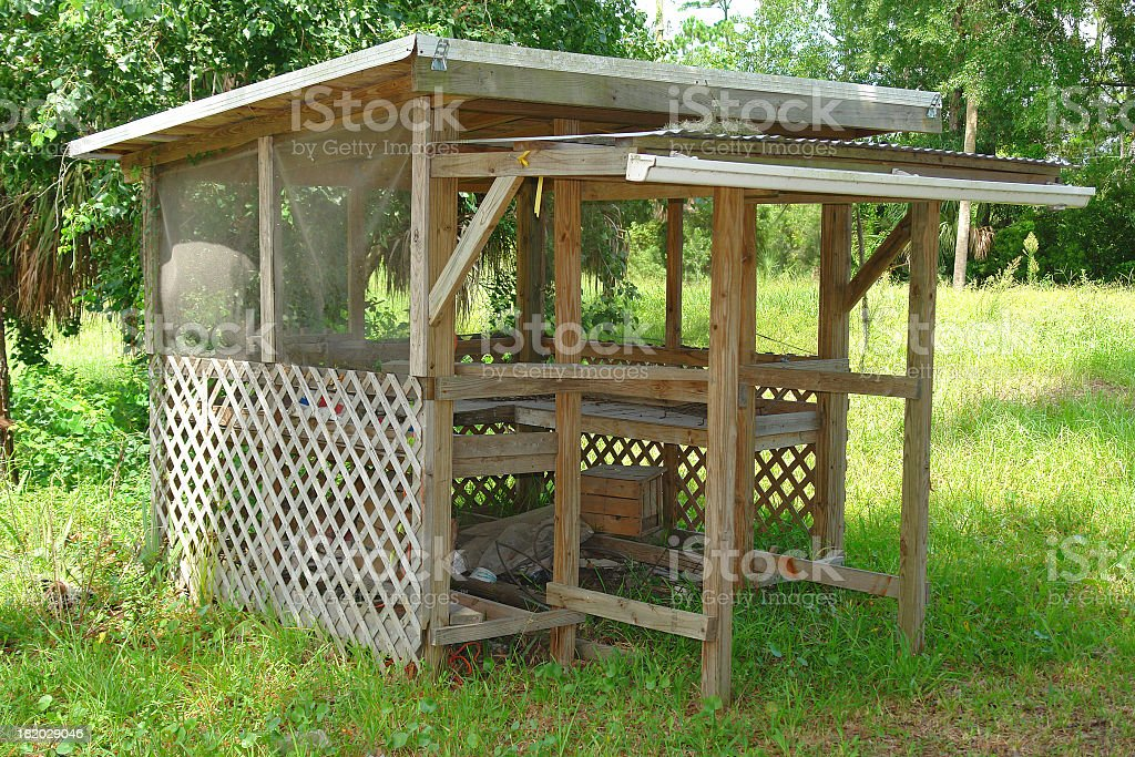 Old Produce Stand stock photo