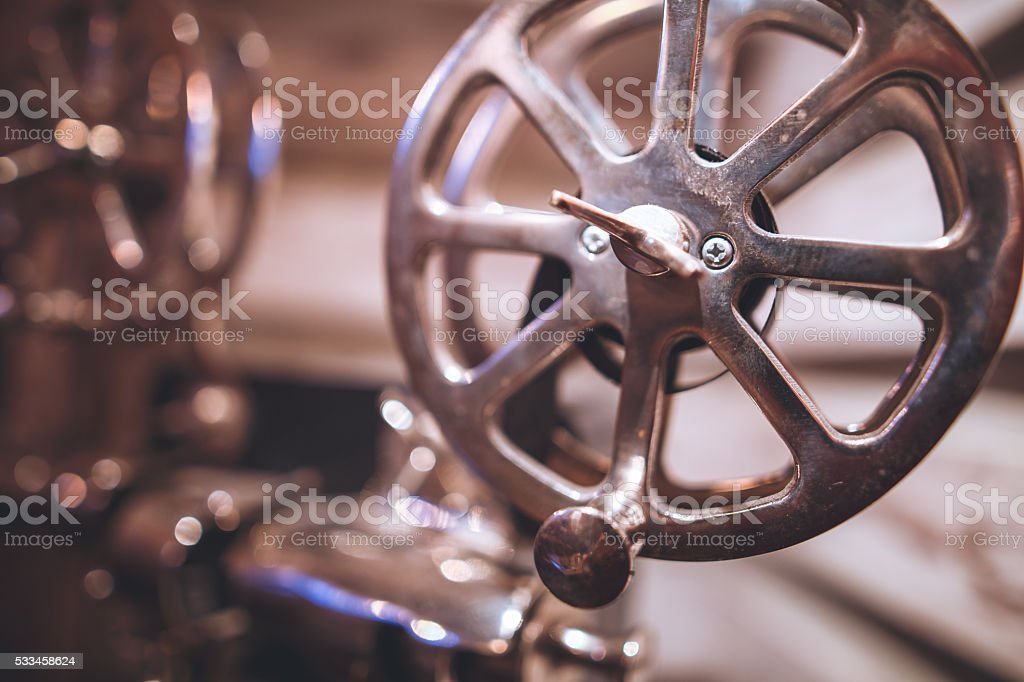 Old projector stock photo