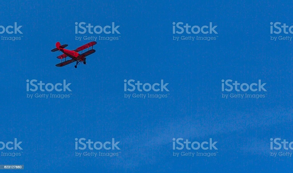 old propeller plane at flight near normandy calais france stock photo