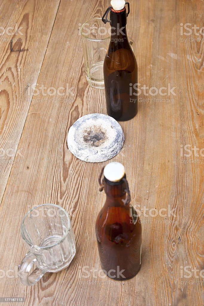 Old Pub Table royalty-free stock photo
