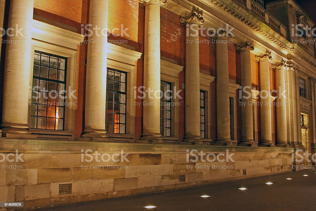 old public library stock photo