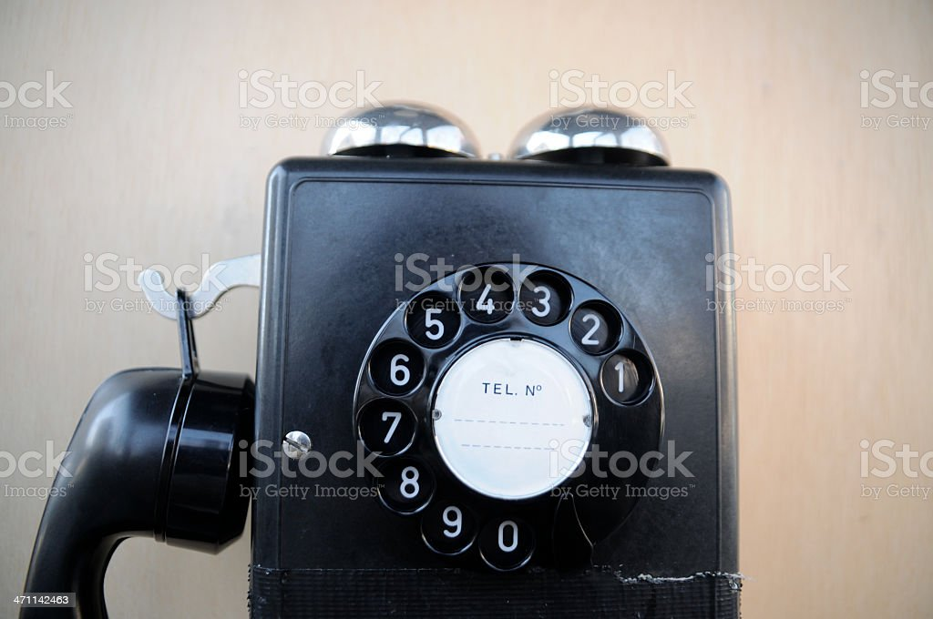 old public phone royalty-free stock photo
