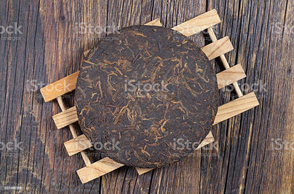 Old pu-erh tea stock photo