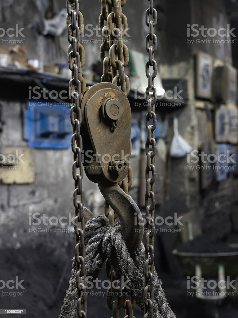 old pulley stock photo