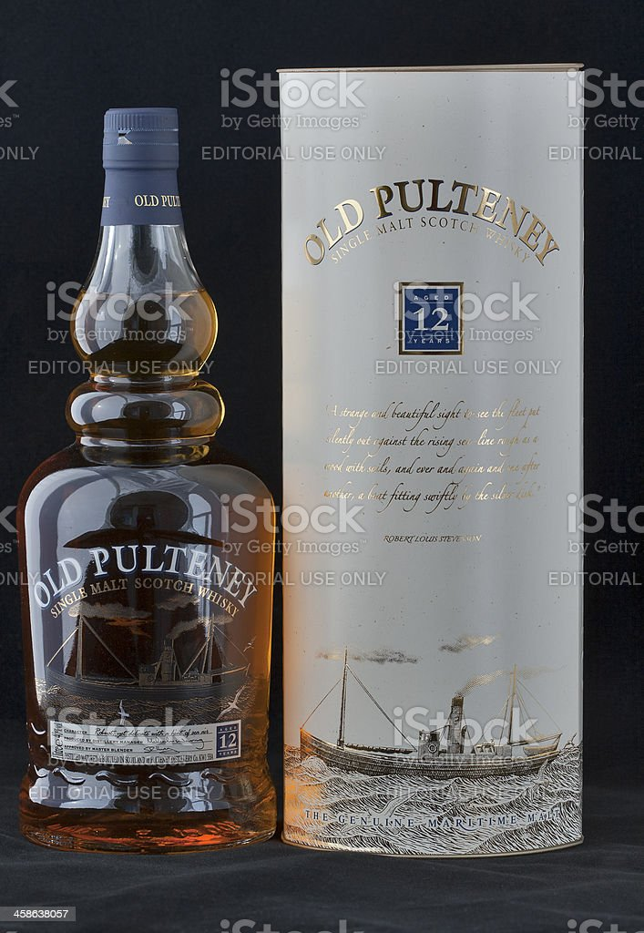 Old Pulteney Single Malt Scotch Whisky royalty-free stock photo