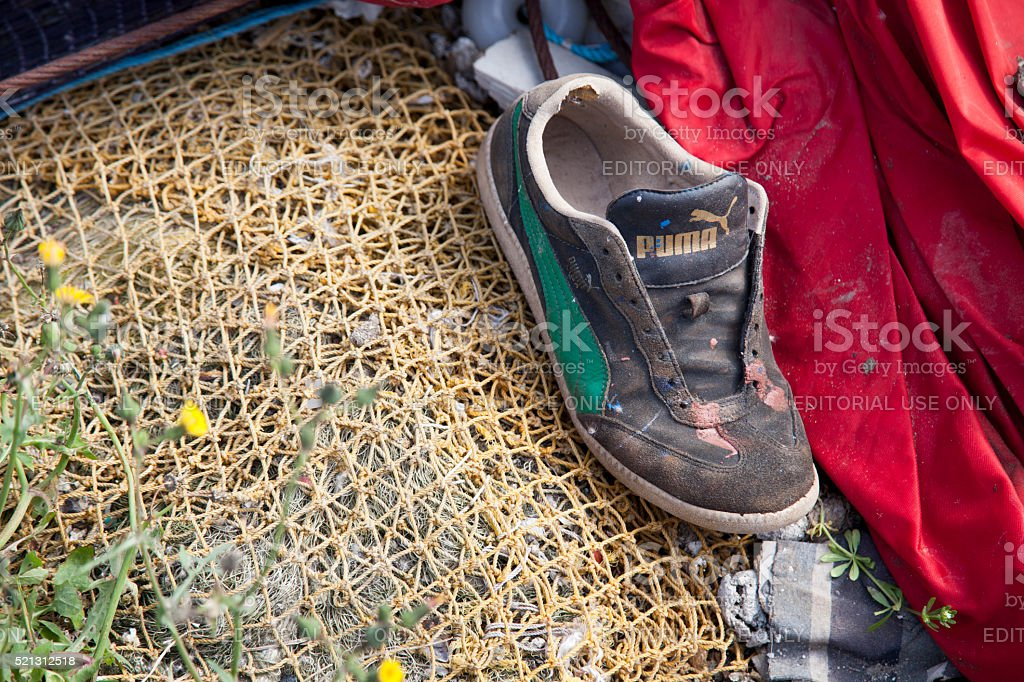 old puma shoes stock photo